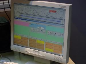 音声はパソコンに録音されていきます。